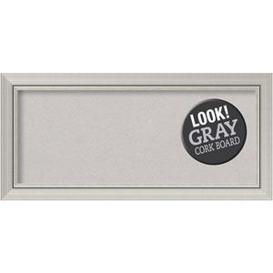 Romano Silver, 34 In. x 16 In. Grey Cork Board