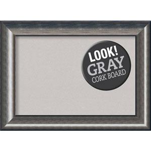 Quicksilver Scoop, 30 In. x 22 In. Grey Cork Board