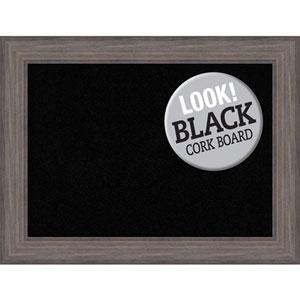 Country Barnwood, 34 In. x 26 In. Black Cork Board