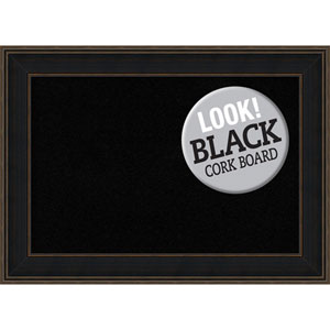 Mezzanine Espresso, 44 In. x 32 In. Black Cork Board