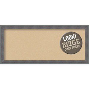 Dixie Grey Rustic, 32 In. x 14 In. Beige Cork Board