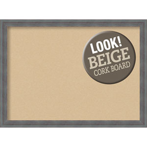 Dixie Grey Rustic, 30 In. x 22 In. Beige Cork Board