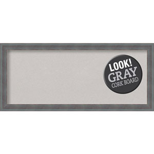 Dixie Grey Rustic, 32 In. x 14 In. Grey Cork Board