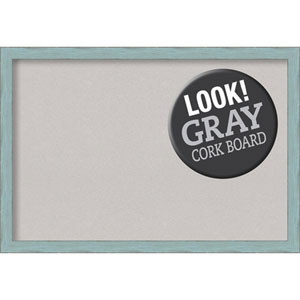 Sky Blue Rustic, 39 In. x 27 In. Grey Cork Board