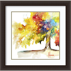 Rainbow Trees I by Leticia Herrera, 27 In. x 27 In. Framed Art