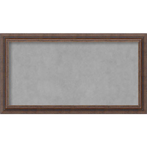 Distressed Rustic Brown, 27 In. x 15 In. Magnetic Board
