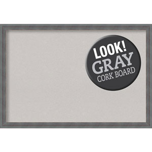 Dixie Grey Rustic, 38 In. x 26 In. Grey Cork Board