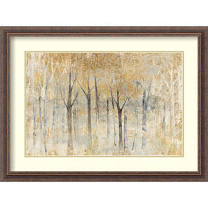 Seasons End Gold by Avery Tillmon, 32 In. x 24 In. Framed Art