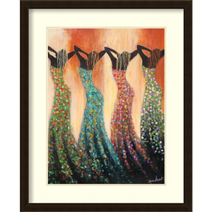 Dance of the Summer Solstice by Monica Stewart, 26 In. x 32 In. Framed Art