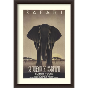 Serengeti by Steve Forney, 32 In. x 46 In. Framed Art
