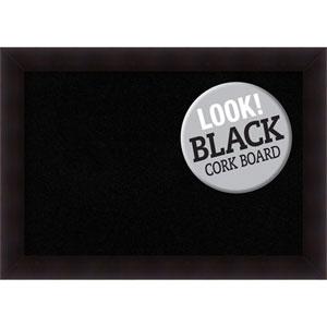 Portico Espresso, 42 In. x 30 In. Black Cork Board