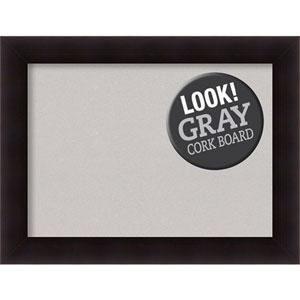 Portico Espresso, 34 In. x 26 In. Grey Cork Board
