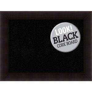 Portico Espresso, 34 In. x 26 In. Black Cork Board