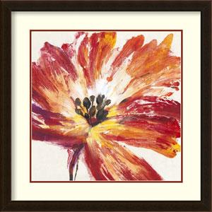Fleur Rouge I by Tim OToole, 25 In. x 25 In. Framed Art