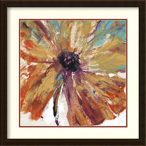 Orange Splash I by Tim OToole, 27 In. x 27 In. Framed Art