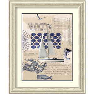 Current Tide Sun by Sandy Lloyd, 28 In. x 34 In. Framed Art