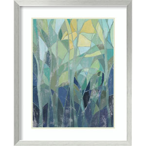Stained Glass Forest I by Grace Popp, 26 In. x 32 In. Framed Art