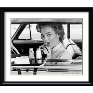 Marilyn Monroe at the Drive-In, 1952 by Philippe Halsman, 39 In. x 33 In. Framed Art