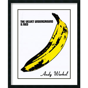 The Velvet Underground and Nico (Banana) by Andy Warhol, 33 In. x 42 In. Framed Art