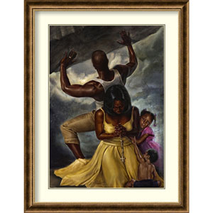 Behind Every Great Man by WAK-Kevin A. Williams, 34 In. x 44 In. Framed Art