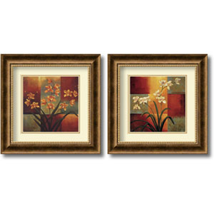 Orchids - Set of Two by Jill Deveraux: 16.7 x 16.7 Framed Prints