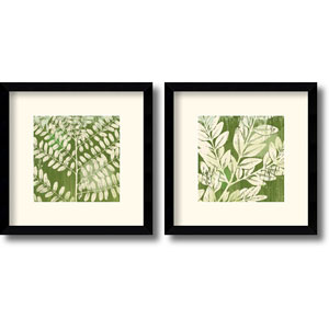 Leaves - Set of Two by Erin Clark: 13 x 13 Framed Prints