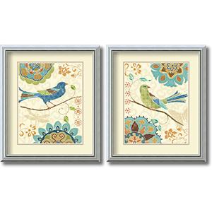 Eastern Tale Birds - Set by Daphne Brissonnet: 20 x 17 Print Reproduction