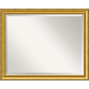 Colonial Embossed Gold Wall Mirror - Large
