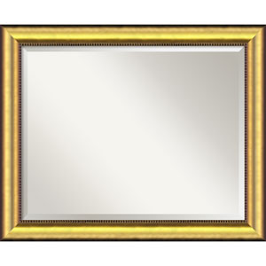 Vegas Burnished Gold Wall Mirror - Large