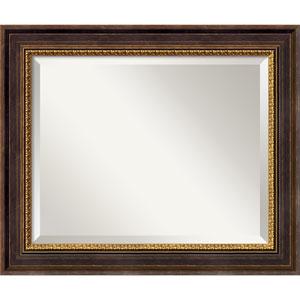 Veneto Distressed Black Wall Mirror - Medium