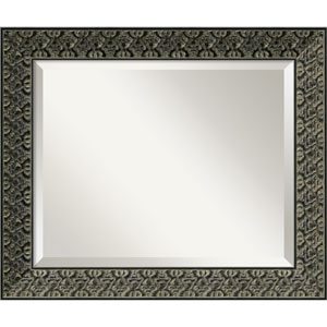 Intaglio Antique Black Wall Mirror - Medium