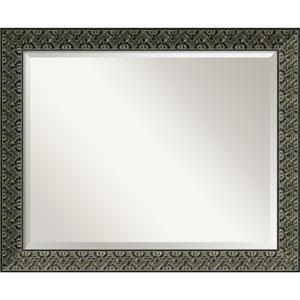 Intaglio Antique Black Wall Mirror - Large