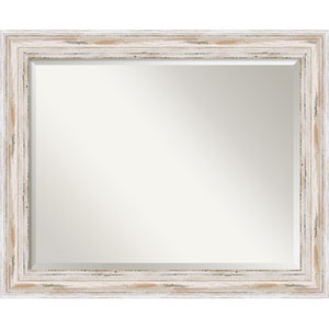 Alexandria Whitewash Wall Mirror - Large