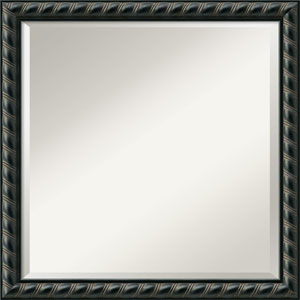Pequot Black Wall Mirror - Square