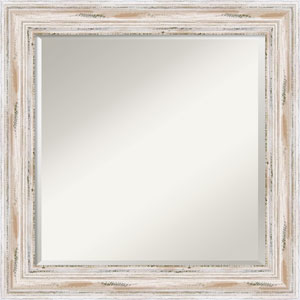 Alexandria Whitewash Wall Mirror - Square