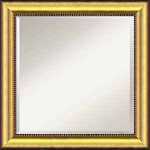 Vegas Burnished Gold Wall Mirror - Square