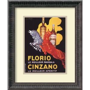 Florio E Cinzano (Ca. 1930) by Leonetto Cappiello: 13.75 x 16.25 Print Reproduction