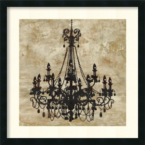 Chandelier I by Oliver Jeffries: 26 x 26 Print Reproduction