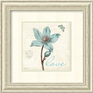 Touch of Blue IV Love by Katie Pertiet: 22.38 x 22.38 Print Reproduction