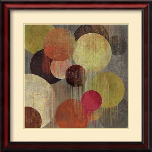 Magenta Bubbles I by Tom Reeves: 26 x 26 Print Reproduction