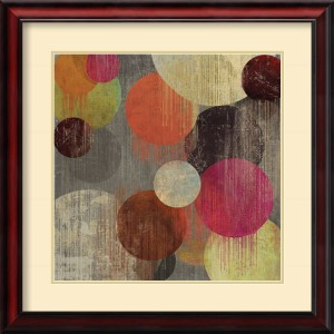 Magenta Bubbles II by Tom Reeves: 26 x 26 Print Reproduction