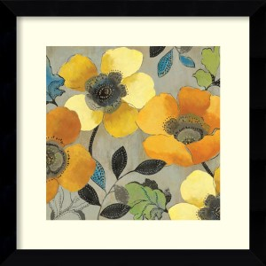 Yellow and Orange Poppies II by Allison Pearce: 26.63 x 26.63 Print Reproduction