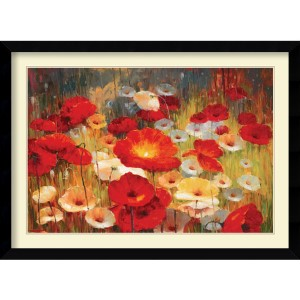 Meadow Poppies I by Lucas Santini: 42.63 x 31.13 Print Reproduction