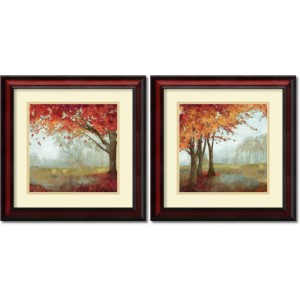 A Sense of Space by Asia Jensen: 19 x 19 Print Reproduction, Set of Two