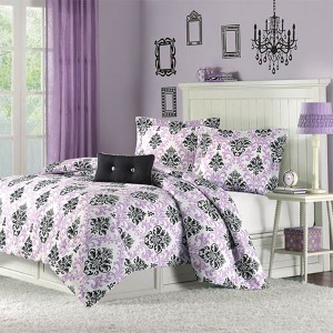 Katelyn Purple Three-Piece Twin Extra Long Comforter Set
