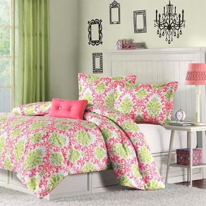 Katelyn Pink Three-Piece Twin Extra Long Comforter Set