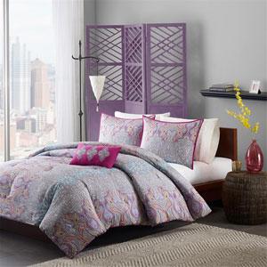 Keisha Gray Three-Piece Twin Comforter Set