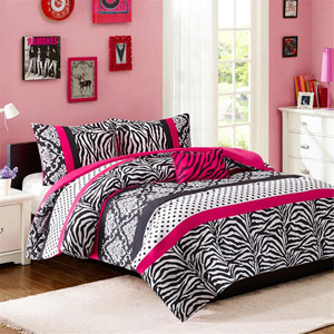Reagan Pink Three-Piece Twin Comforter Set