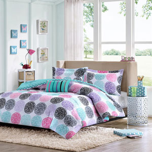 Carly Multicolor Three-Piece Twin Comforter Set