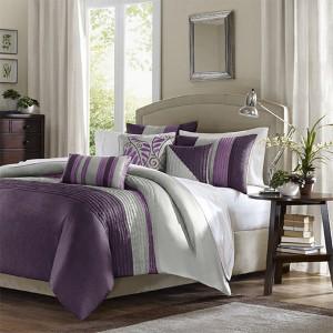 Amherst Purple Seven-Piece Queen Comforter Set